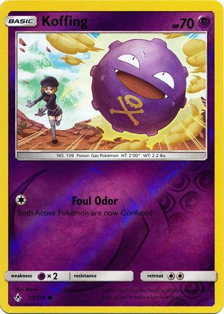 Koffing - 73/214 - Common - Reverse Holo