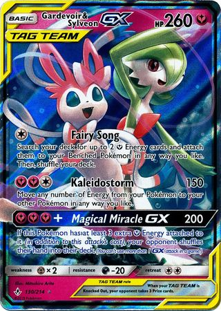 Gardevoir & Sylveon Tag Team GX - 130/214 - Ultra Rare