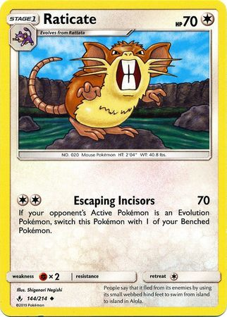 Raticate - 144/214 - Uncommon