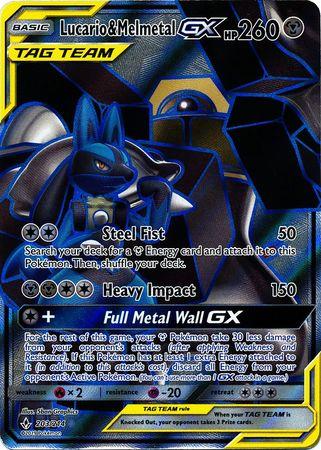 Lucario & MelmetalTag Team GX - 203/214 - Full Art Ultra Rare