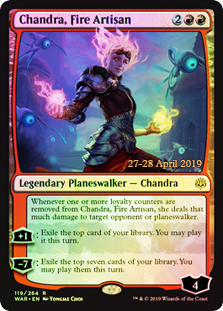 Chandra, Fire Artisan - Foil - Prerelease Promo