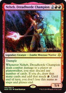Neheb, Dreadhorde Champion - Foil - Prerelease Promo