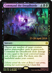 Command the Dreadhorde - Foil - Prerelease Promo