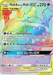 Muk & Alolan MukTag Team GX - 220/214 - Secret Rare