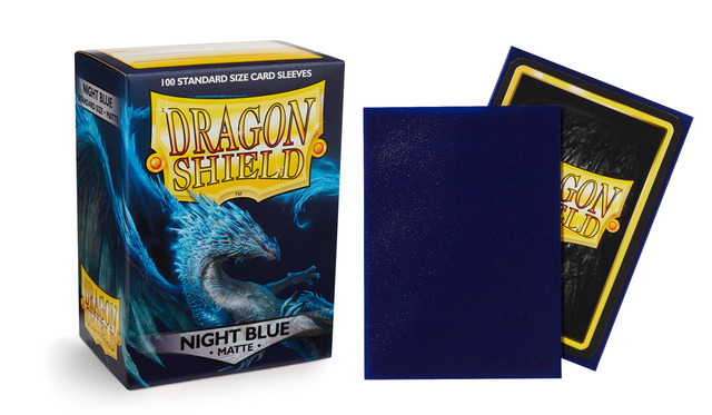 Dragon Shield Night Blue: Botan Matte Sleeves - (Box of 100)
