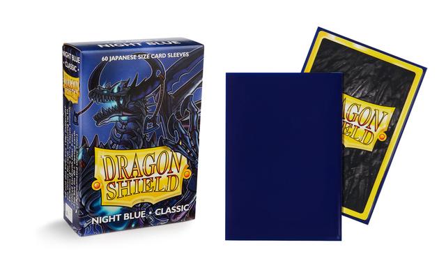 Dragon Shield - Sleeves 60ct (Japanese) - Classic NIGHT BLUE