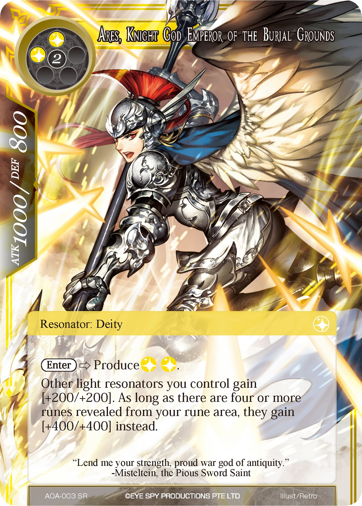 Ares, Knight God Emperor of the Burial Grounds - AOA-003 - SR