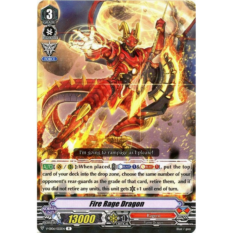 Fire Rage Dragon - V-EB06/022EN - R