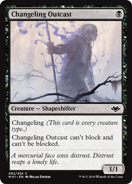 Changeling Outcast - Foil