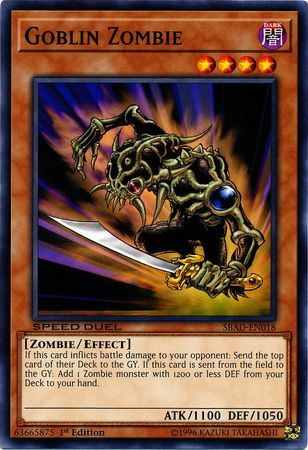 Goblin Zombie - SBAD-EN018 - Common - 1st Edition - Yu-Gi-Oh