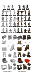WizKids Unpainted Minis - Townspeople and Accessories