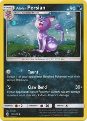 Alolan Persian - 79/149 - Cosmos Holo - Guardians Rising Spooky Blisters Exclusive