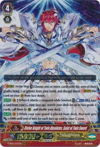 Divine Knight of Twin Absolutes, Saint of Twin Sword - V-SS01/007EN - RRR