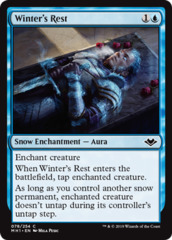 Winter's Rest - Foil