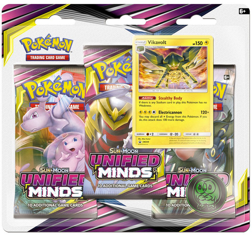 Sun & Moon - Unified Minds 3 Pack Blister - Vikavolt