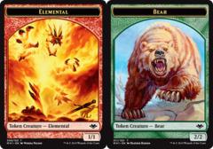 Elemental Token (008) // Bear Token