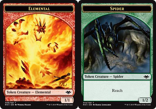 Elemental Token (008) // Spider Token