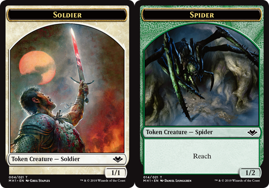 Soldier Token // Spider Token