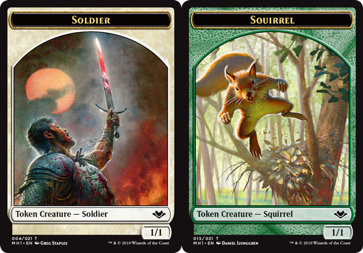 Soldier Token // Squirrel Token - Card Games » CG