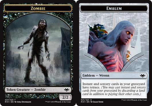 Zombie Token // Emblem - Wrenn and Six Token
