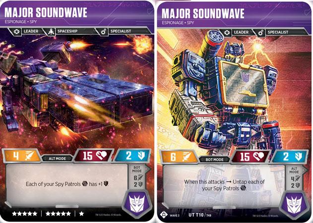 Major Soundwave // Espionage Spy - Transformers TCG Singles » Siege