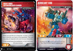 Sergeant Cog // Artillery Mechanic // Heavy Force Defensebreaker Cannon