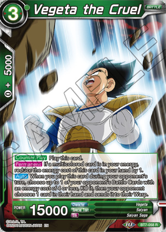 Vegeta the Cruel - BT7-058 - R