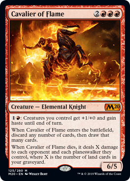 Cavalier of Flame - Foil