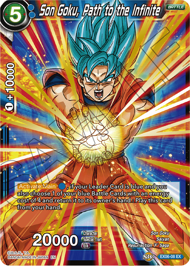 Son Goku, Path to the Infinite - EX06-08 - EX - Foil