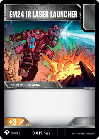 MINT Transformers TCG EM24 IR Laser Launcher C019//064