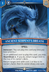 Ancient Serpent's Breath - Foil on Channel Fireball