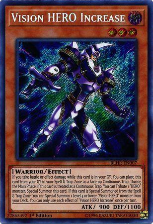 Vision HERO Increase - BLHR-EN007 - Secret Rare - 1st Edition