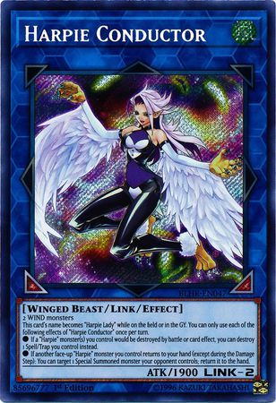 Harpie Conductor - BLHR-EN047 - Secret Rare - 1st Edition