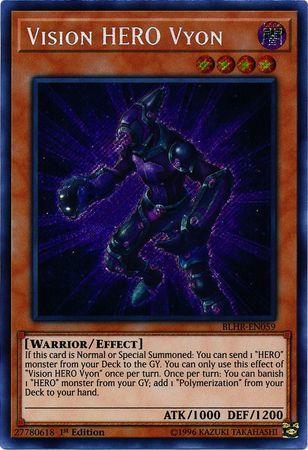 Vision Hero Increase BLHR-EN007 Secret Rare 1st Edition