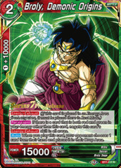Broly, Demonic Origins - BT7-117 - R - Pre-release (Assault of the Saiyans)