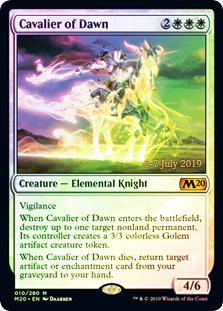 Cavalier of Dawn (M20 Prerelease Promo)