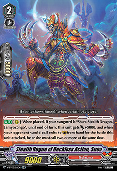 Stealth Rogue of Reckless Action, Suou - V-BT05/021EN - RR
