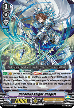 Decorous Knight, Hengist - V-BT05/026EN - R