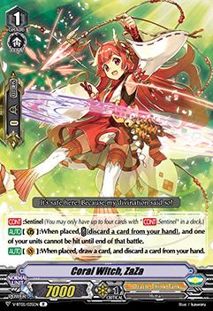 Coral Witch, ZaZa - V-BT05/035EN - R