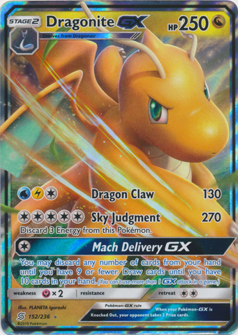 Dragonite GX - 152/236 - Ultra Rare