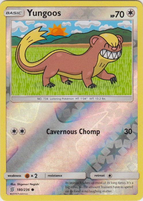 Yungoos - 180/236 - Common - Reverse Holo
