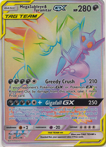 Mega Sableye & Tyranitar Tag Team GX - 245/236 - Secret Rare