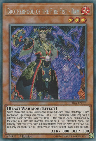 Brotherhood of the Fire Fist - Ram - FIGA-EN011 - Secret Rare - 1st Edition
