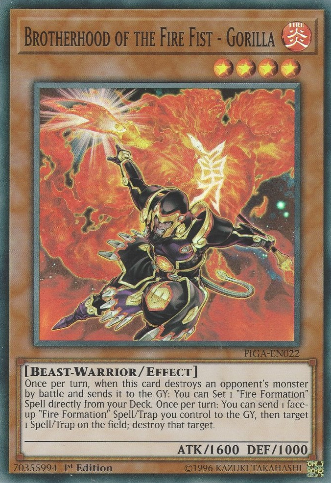 Brotherhood of the Fire Fist - Gorilla - FIGA-EN022 - Super Rare - 1st Edition