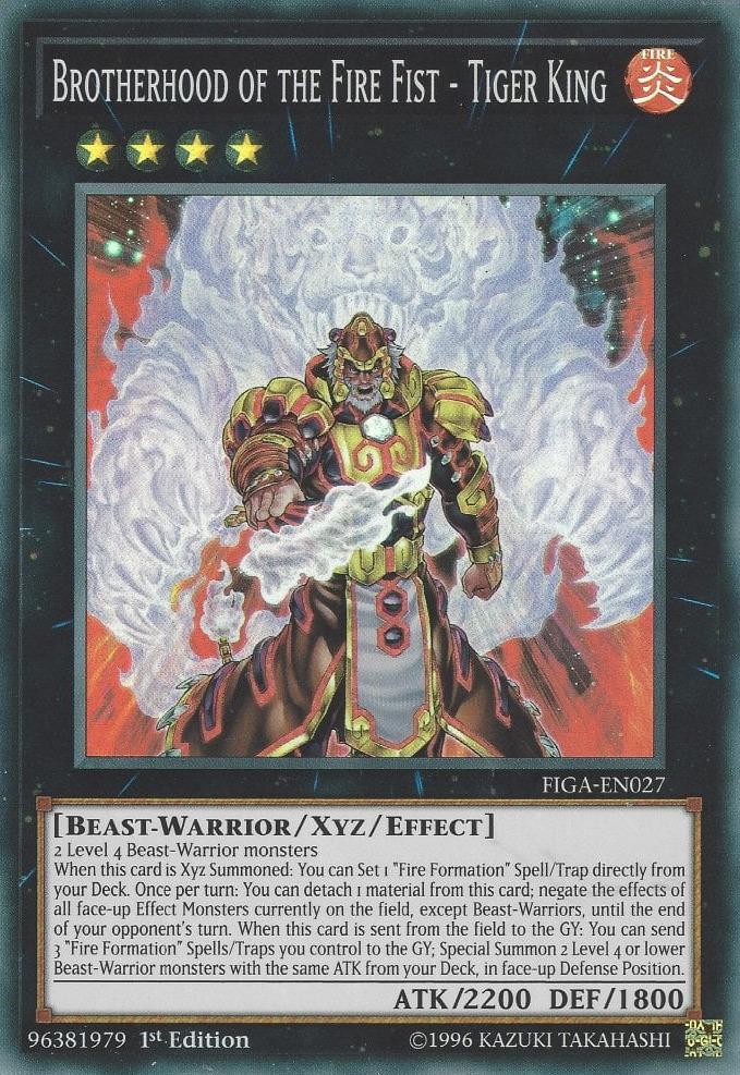 Brotherhood of the Fire Fist - Tiger King - FIGA-EN027 - Super Rare - 1st Edition