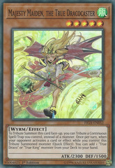 Majesty Maiden, the True Dracocaster - FIGA-EN052 - Super Rare - 1st Edition