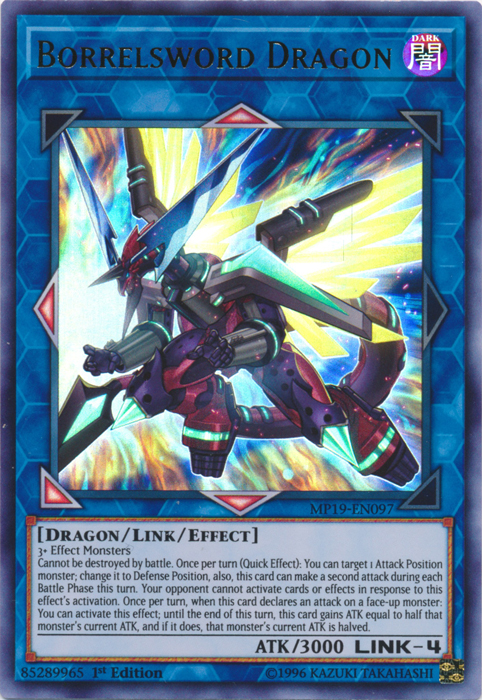 Borrelsword Dragon - MP19-EN097 - Ultra Rare - 1st Edition