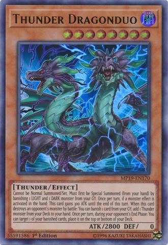 Thunder Dragonduo - MP19-EN170 - Ultra Rare - 1st Edition