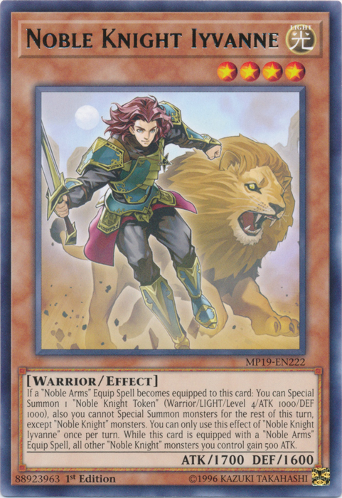 Noble Knight Iyvanne - MP19-EN222 - Rare - 1st Edition
