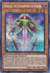 Morgan, the Enchantress of Avalon - MP19-EN223 - Prismatic Secret Rare - 1st Edition